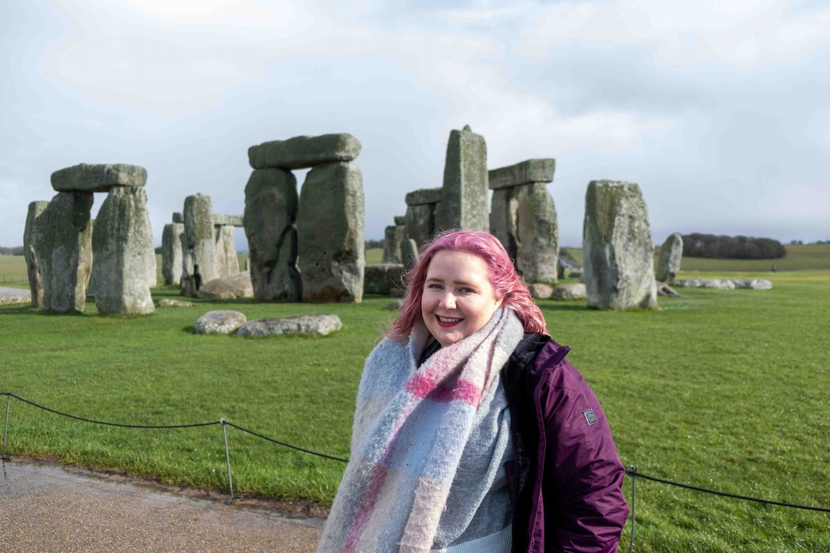 Kat at Stonehenge