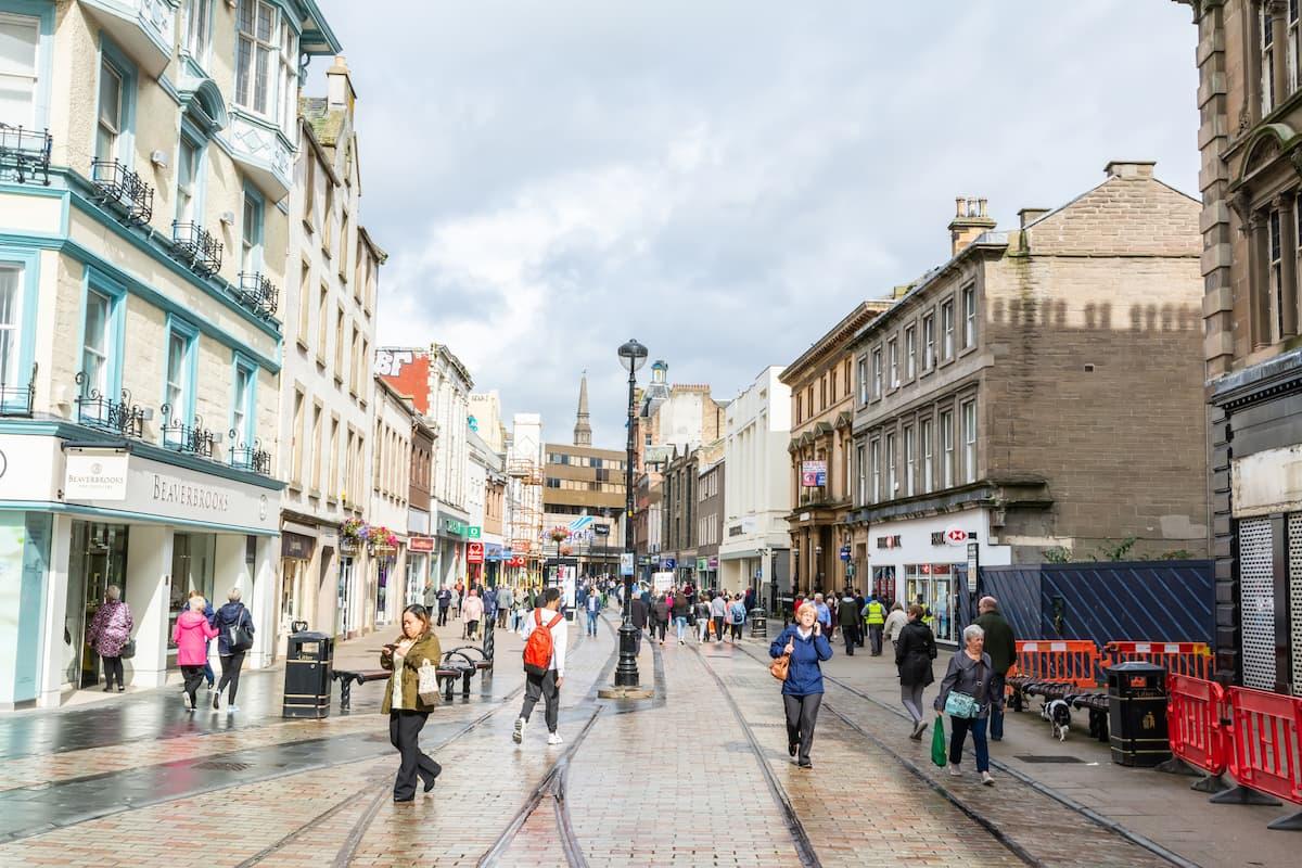 Murraygate pedestrian street in Dundee