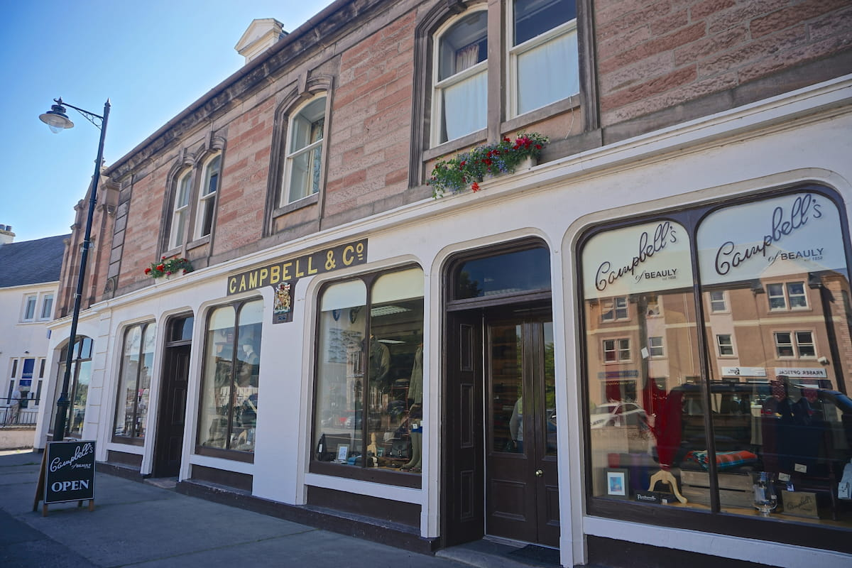 The historic Campbell's of Beauly 1858 on the High Street