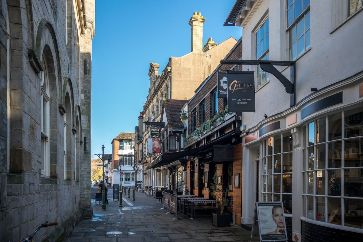 town centre in Horsham West Sussex