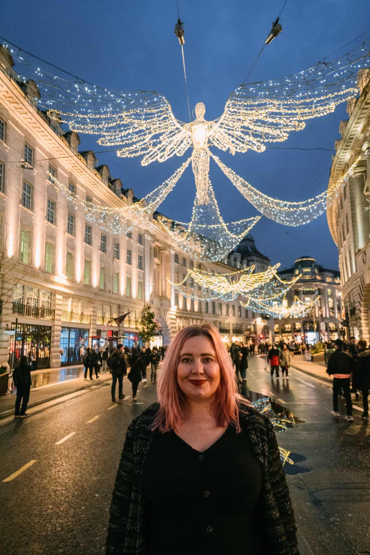 Christmas Lights Display on Regents Street