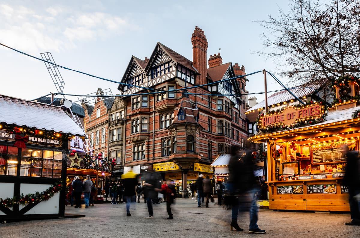 Christmas Market in Old Market Square, Nottingham