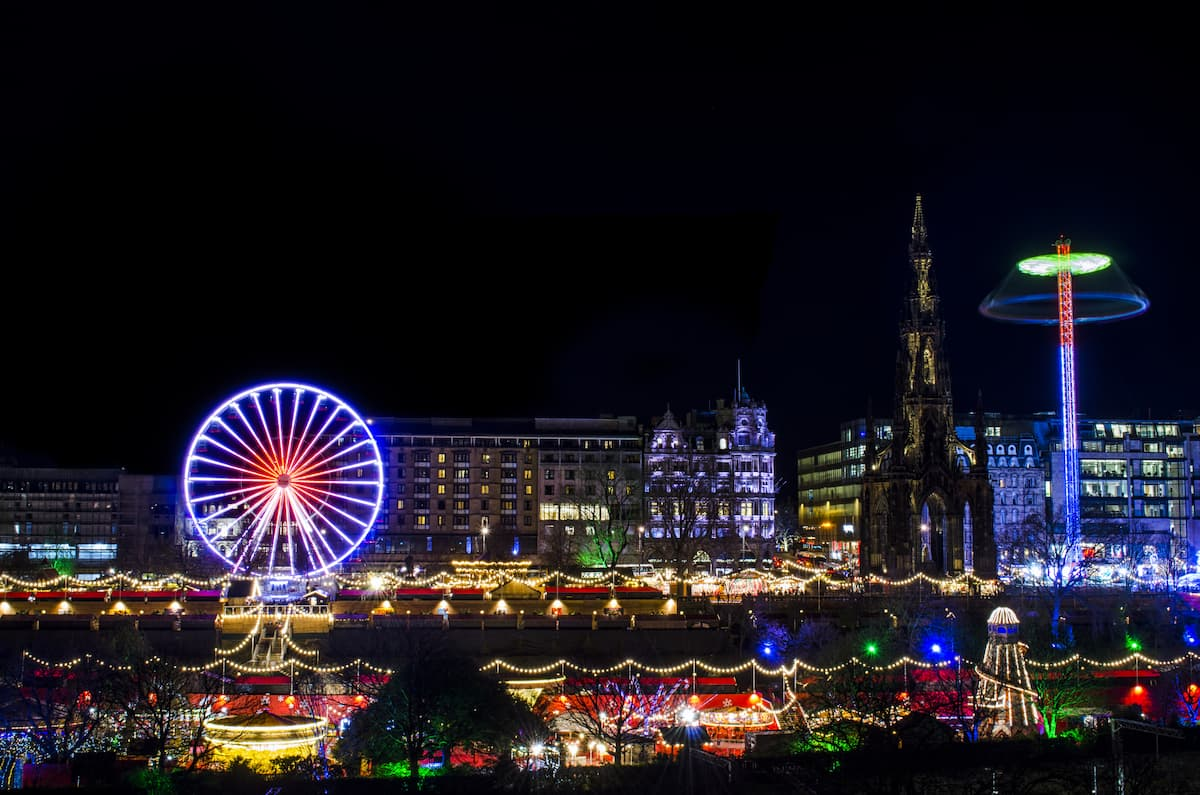 Edinburgh during festive season