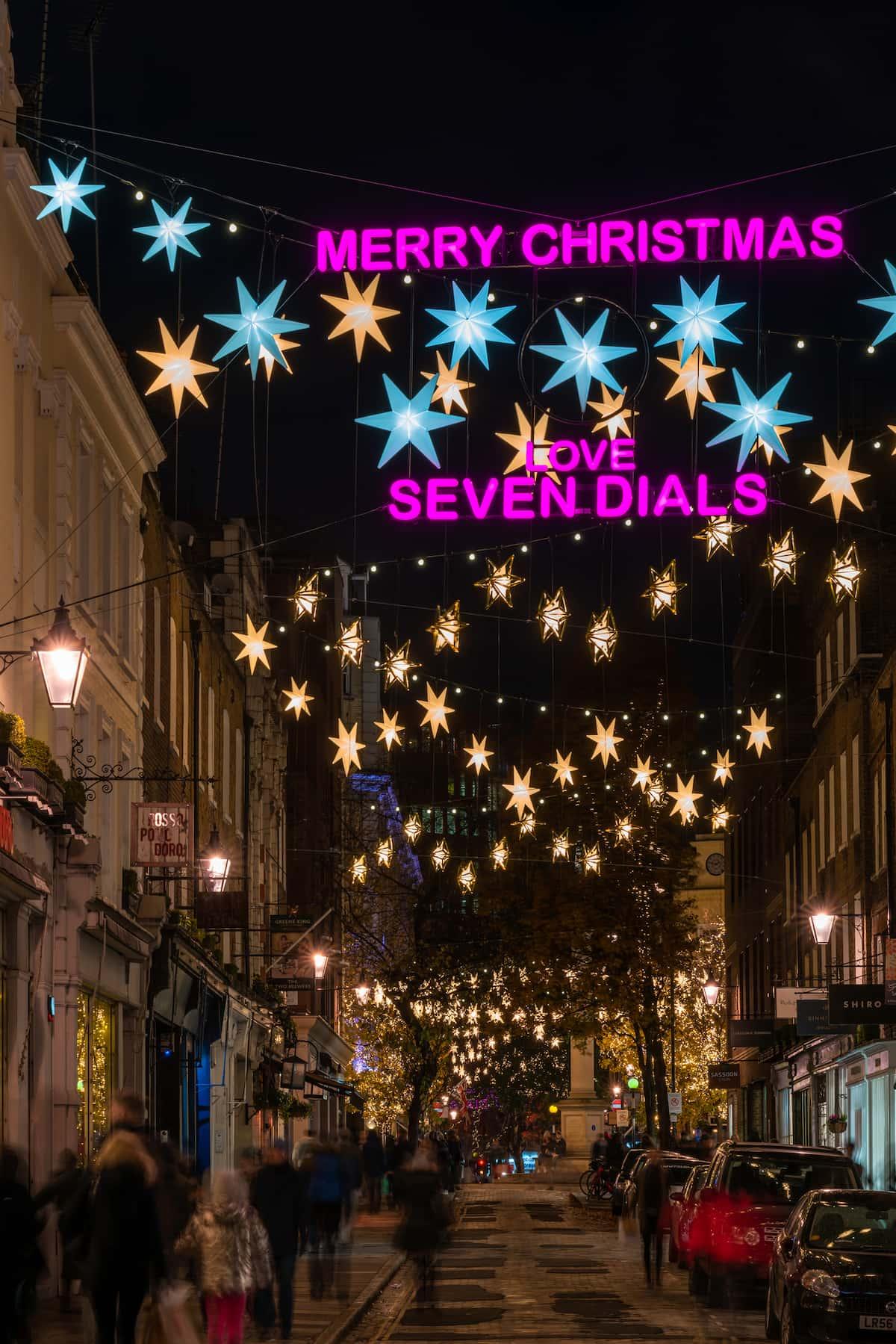 Seven Dials in Covent Garden, London