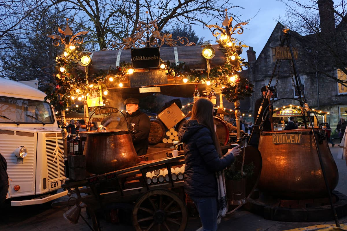 Wine stall at Winchester Christmas Market