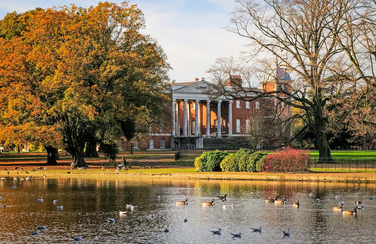 Osterley Park house and lake, London