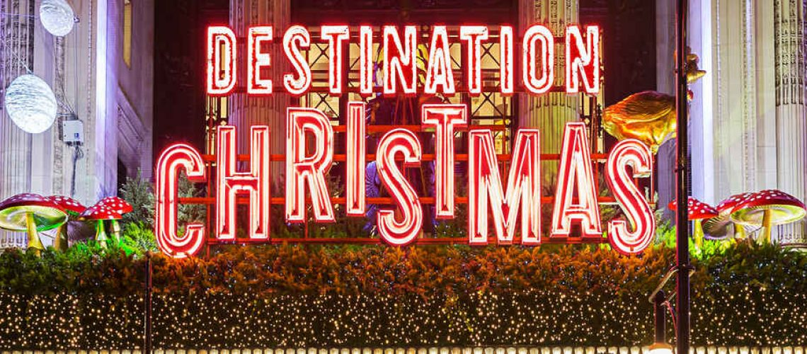 Destination is Christmas sign